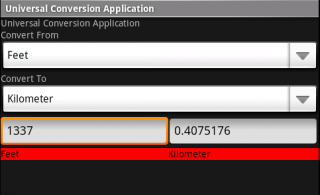 Universal Conversion Applica