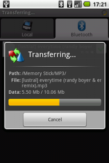 Bluetooth File Transfer - пе