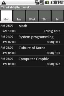 TimeTable(for Student)